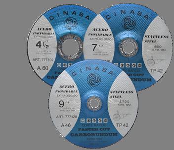 Discos de Corte Tipo 42 Extra delgado para Acero Inoxidable Faster Cut